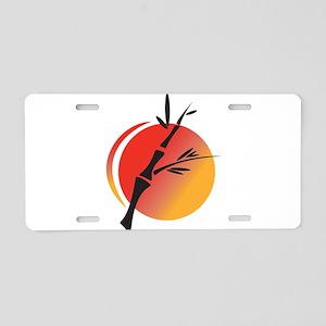 Oriental Design Aluminum License Plate