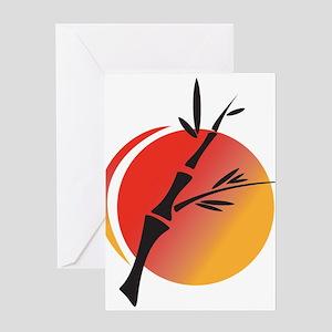 Oriental Design Greeting Card