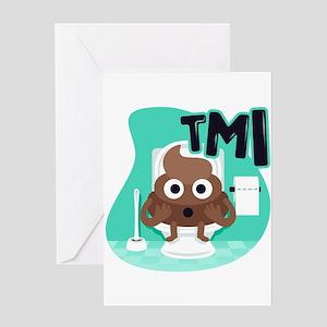 Emoji Poop TMI Greeting Card