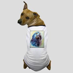 Hyacinth Macaw, bird art! Dog T-Shirt