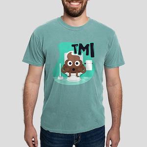 Emoji Poop TMI Mens Comfort Colors Shirt