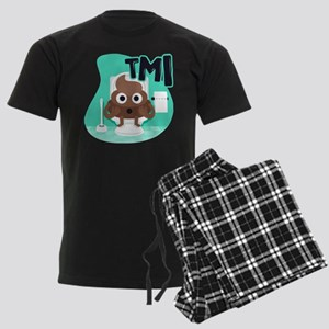 Emoji Poop TMI Men's Dark Pajamas