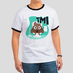 Emoji Poop TMI Ringer T