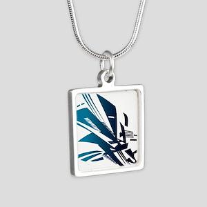 Parkour Silver Square Necklace