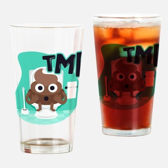 Emoji Poop TMI Drinking Glass