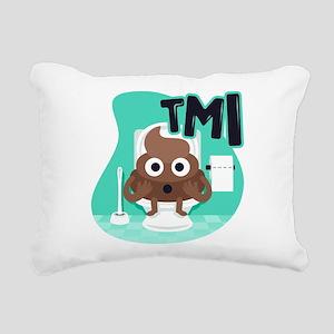 Emoji Poop TMI Rectangular Canvas Pillow