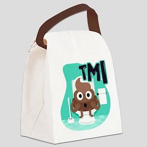 Emoji Poop TMI Canvas Lunch Bag
