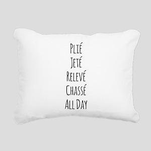 Ballet All Day Rectangular Canvas Pillow