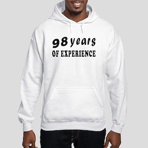 98 years birthday designs Hooded Sweatshirt