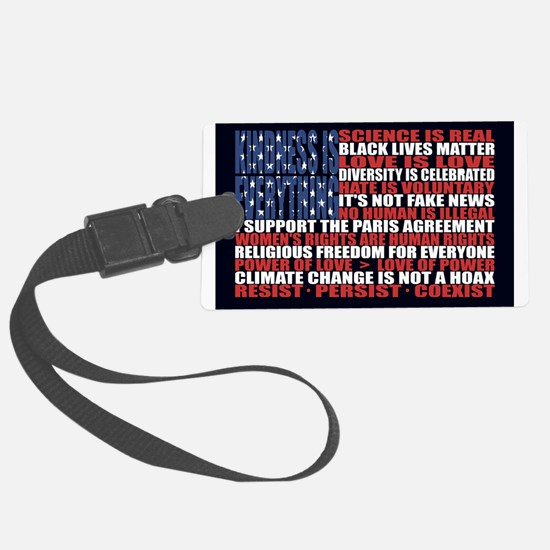 Political Protest American Flag Luggage Tag