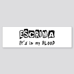 Escrima Martial Arts Sticker (Bumper)