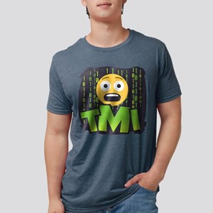 Emoji TMI Mens Tri-blend T-Shirt