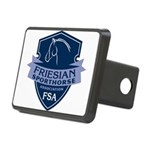 Friesian Sporthorse Rectangular Hitch Cover Blue