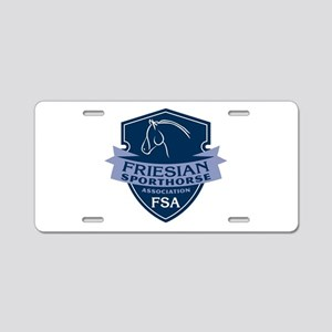 Friesian Sporthorse Logo Aluminum License Plate