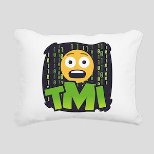Emoji TMI Rectangular Canvas Pillow