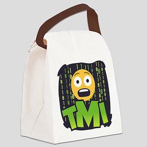 Emoji TMI Canvas Lunch Bag