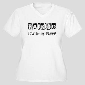 Hapkido Martial Arts Women's Plus Size V-Neck T-Sh