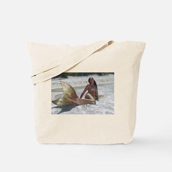 Golden Mermaid Tote Bag