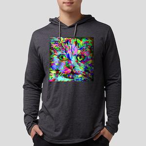 Pop Art Kitten Mens Hooded Shirt
