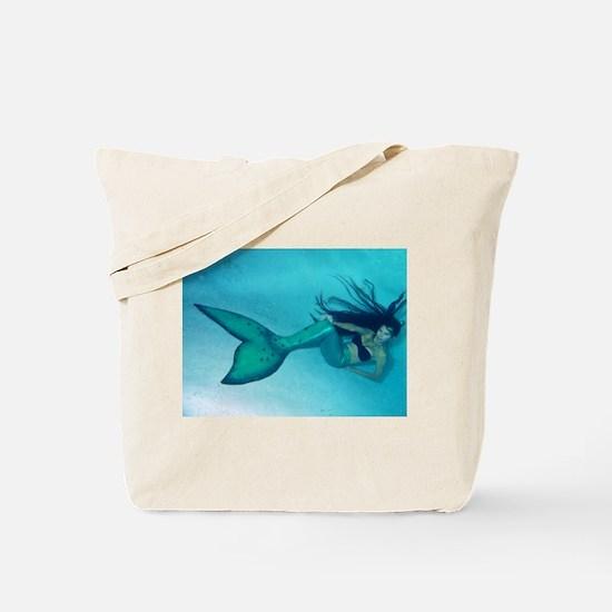 Mermaid Pose Tote Bag