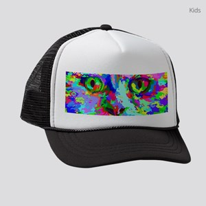 Pop Art Kitten Kids Trucker hat