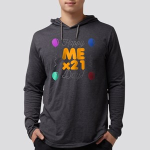 Happy 21st Birthday Mens Hooded Shirt