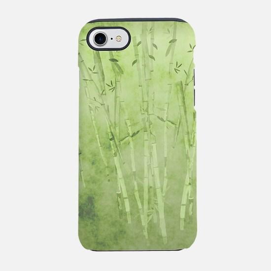 Green Bamboo Stalks iPhone 7 Tough Case