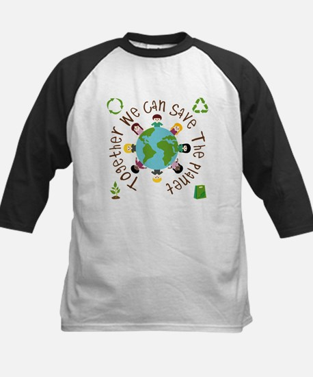 Together Save the Planet Kids Baseball Jersey