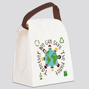 Together Save the Planet Canvas Lunch Bag