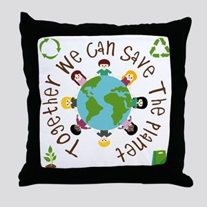 Together Save the Planet Throw Pillow