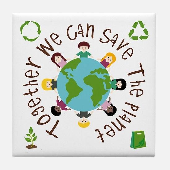 Together Save the Planet Tile Coaster