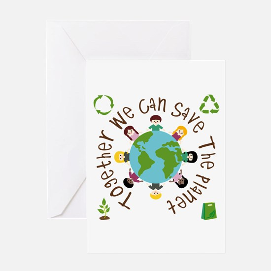 Together Save the Planet Greeting Card