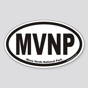 Mesa Verde National Park MVNP Euro Oval Sticker