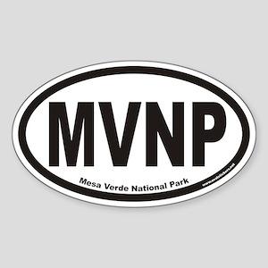 Mesa Verde National Park MVNP Euro Oval Sticker