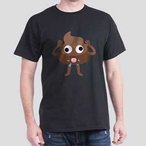 Emoji Poop Tongue Dark T-Shirt
