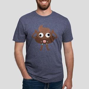 Emoji Poop Tongue Mens Tri-blend T-Shirt