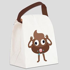 Emoji Poop Tongue Canvas Lunch Bag