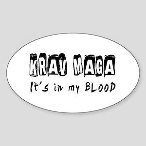 Krav Maga Martial Arts Sticker (Oval)