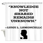 Escape From Mr. Lemoncellos Library Shower Curtain