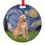 Starry - Golden 1 Round Ornament