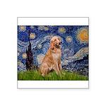 Starry - Golden 1 Square Sticker 3