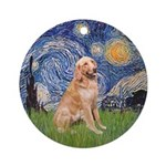 Starry - Golden 1 Ornament (Round)