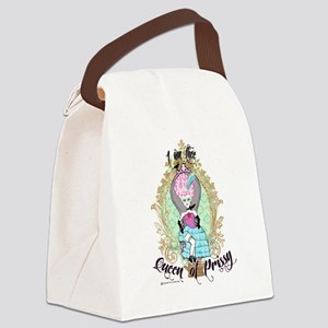 queen of prissy canvas lunch bag