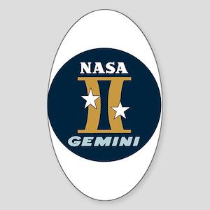 Project Gemini Program Logo Sticker (Oval)