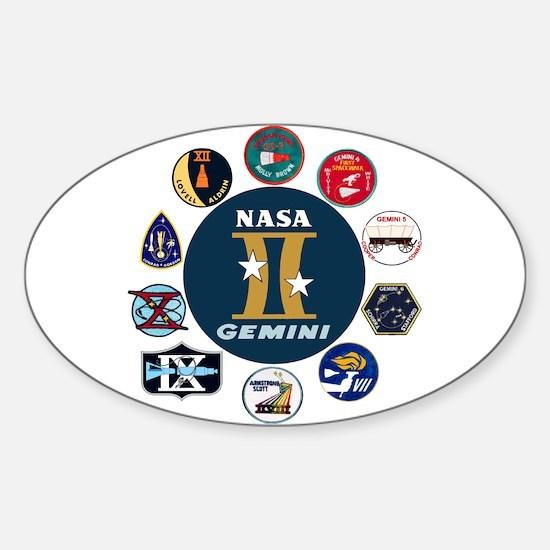 Gemini Commemorative Sticker (Oval)