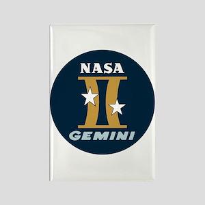 Project Gemini Program Logo Rectangle Magnet