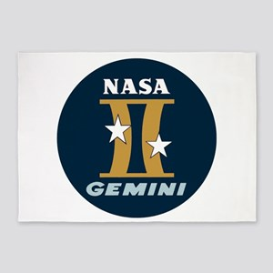 Project Gemini Program Logo 5'x7'Area Rug