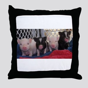 Baby piggies Throw Pillow
