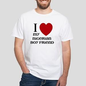 nigerian boy friend White T-Shirt