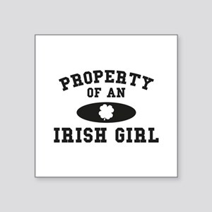 "Property Of An Irish Square Sticker 3"" x 3"""